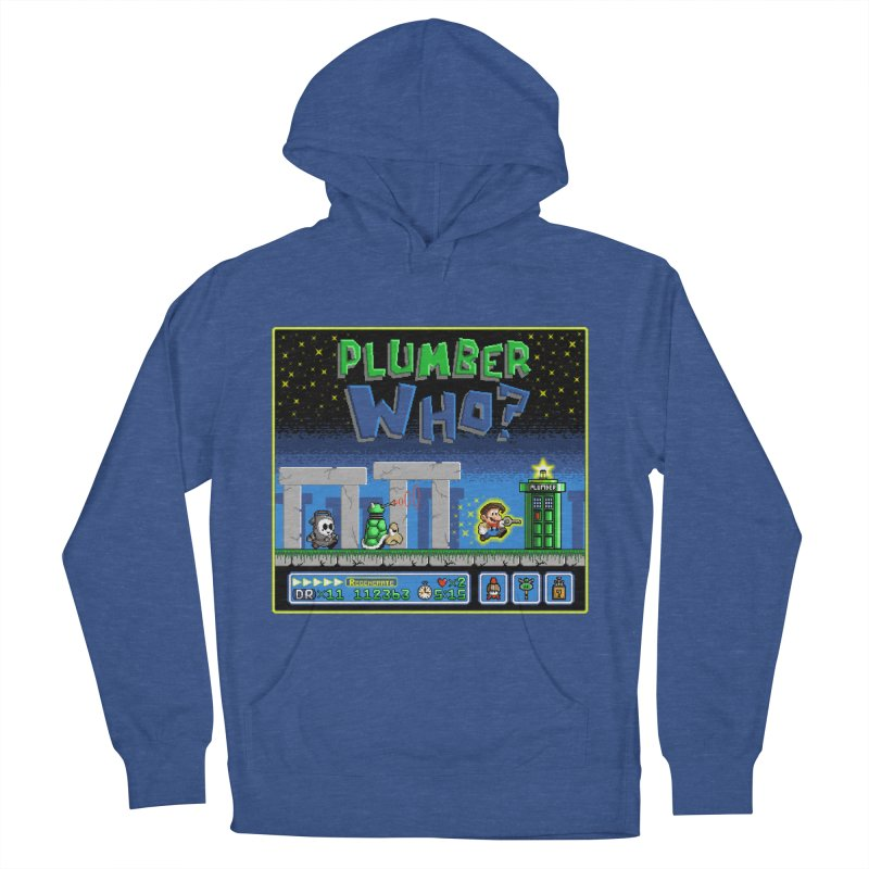 """Plumber Who?"" - Stonehenge Women's French Terry Pullover Hoody by Garbonite"