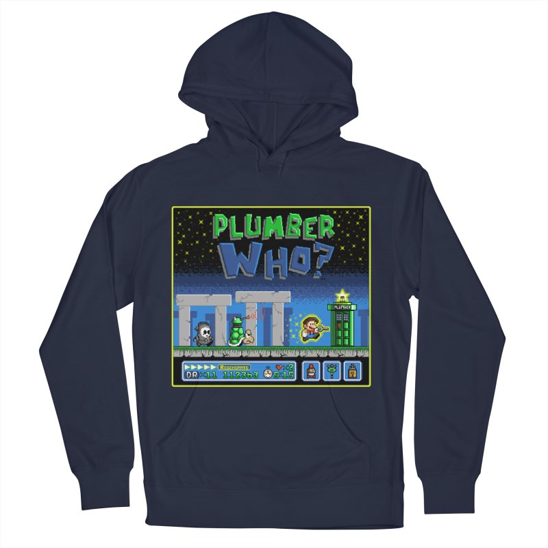 """Plumber Who?"" - Stonehenge Men's French Terry Pullover Hoody by Garbonite"