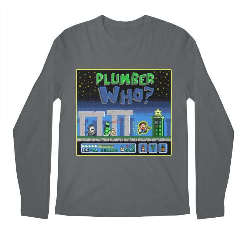 """Plumber Who?"" - Stonehenge Men's Regular Longsleeve T-Shirt by Garbonite"