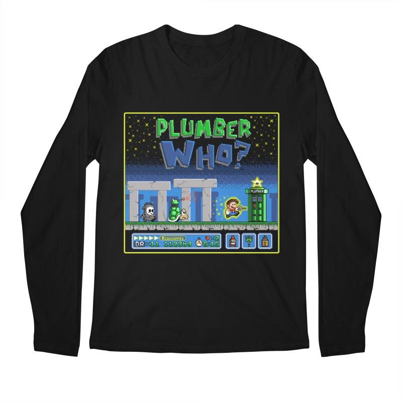 """""""Plumber Who?"""" - Stonehenge Men's Longsleeve T-Shirt by Garbonite"""