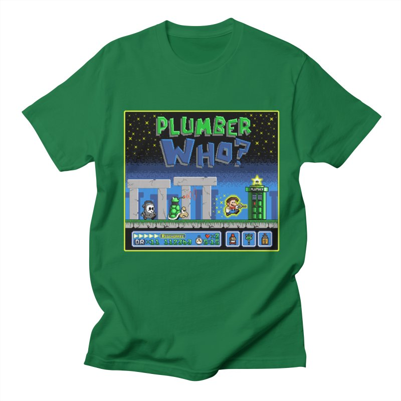 """Plumber Who?"" - Stonehenge Men's Regular T-Shirt by Garbonite"