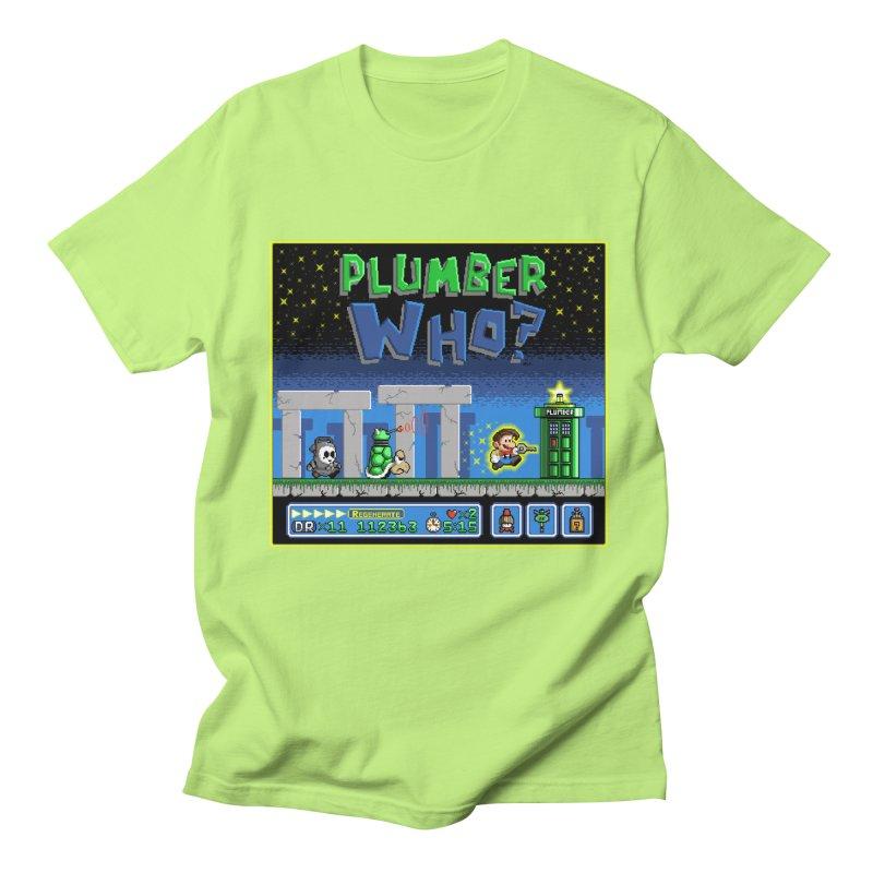 """""""Plumber Who?"""" - Stonehenge Men's Regular T-Shirt by Garbonite"""