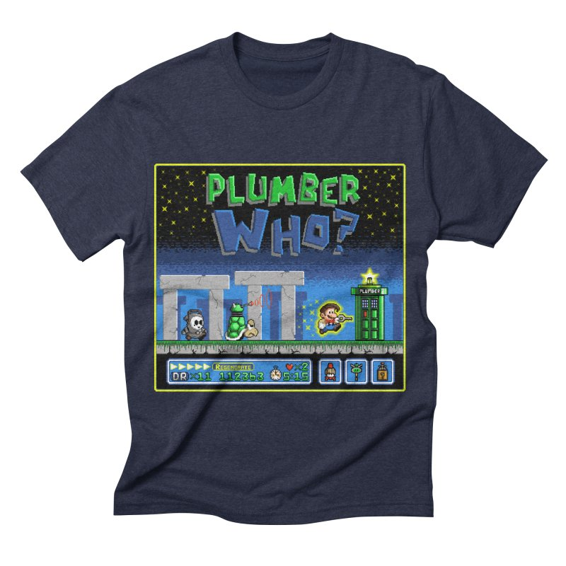 """Plumber Who?"" - Stonehenge Men's Triblend T-shirt by Garbonite"