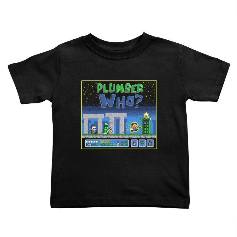 """""""Plumber Who?"""" - Stonehenge Kids Toddler T-Shirt by Garbonite"""
