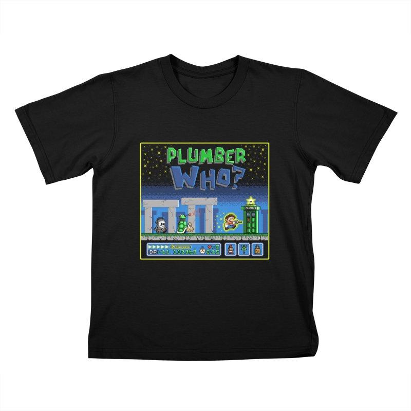 """Plumber Who?"" - Stonehenge Kids T-Shirt by Garbonite"