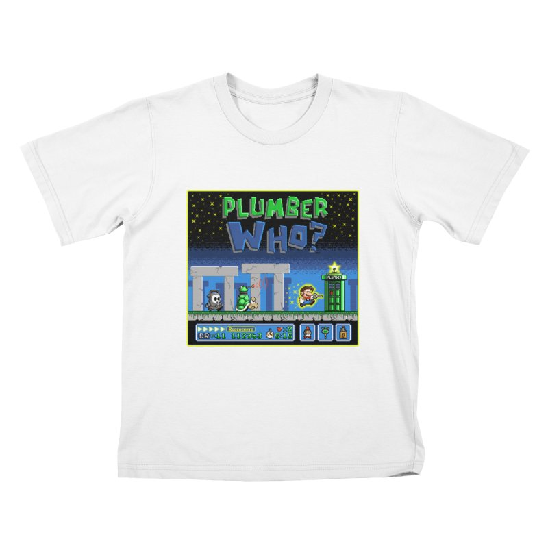"""Plumber Who?"" - Stonehenge Kids T-Shirt by Garbonite"