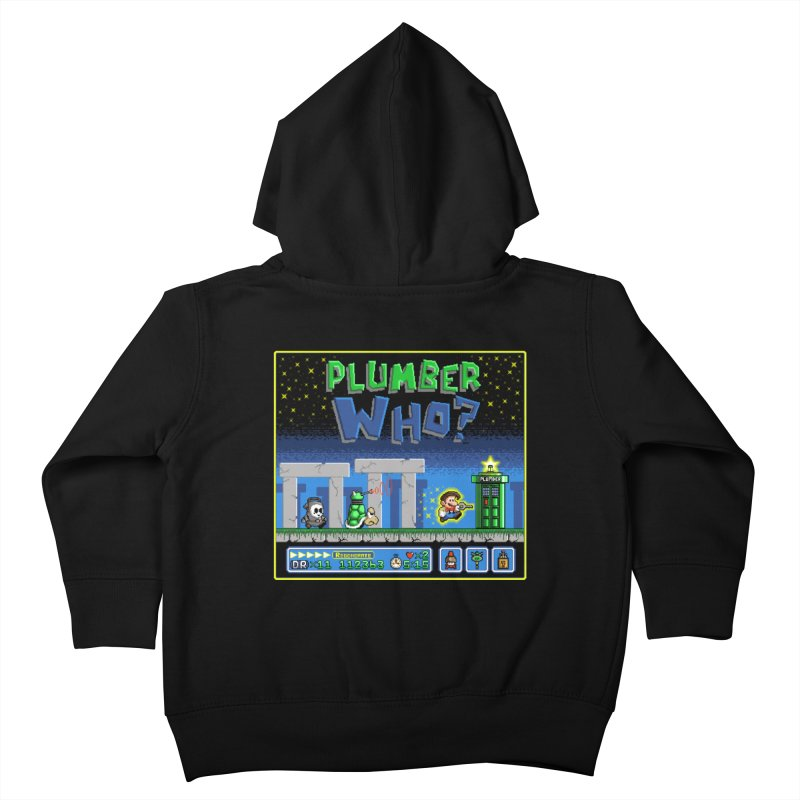 """""""Plumber Who?"""" - Stonehenge Kids Toddler Zip-Up Hoody by Garbonite"""