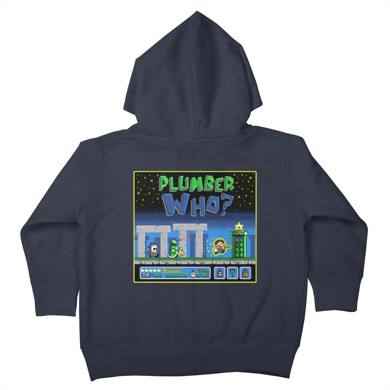 """Plumber Who?"" - Stonehenge Kids Toddler Zip-Up Hoody by Garbonite"