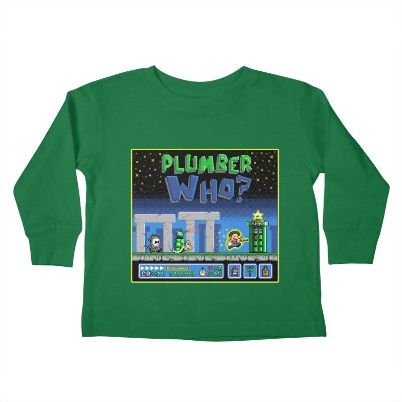 """Plumber Who?"" - Stonehenge Kids Toddler Longsleeve T-Shirt by Garbonite"