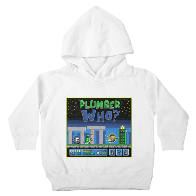 """Plumber Who?"" - Stonehenge Kids Toddler Pullover Hoody by Garbonite"