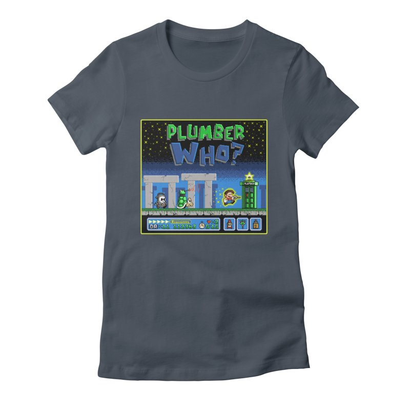 """Plumber Who?"" - Stonehenge Women's Fitted T-Shirt by Garbonite"