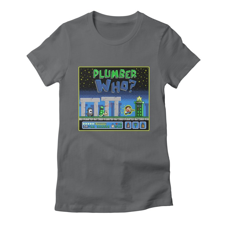 """""""Plumber Who?"""" - Stonehenge Women's Fitted T-Shirt by Garbonite"""