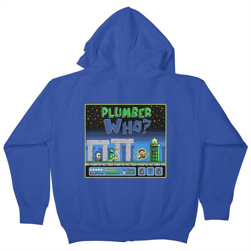 """""""Plumber Who?"""" - Stonehenge Kids Zip-Up Hoody by Garbonite"""