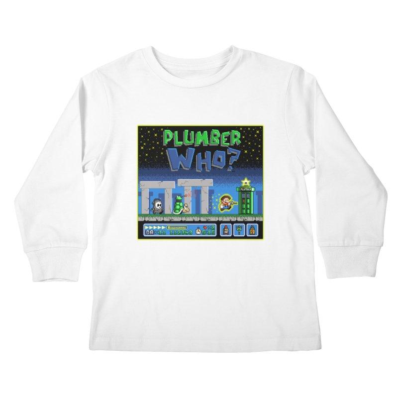 """Plumber Who?"" - Stonehenge Kids Longsleeve T-Shirt by Garbonite"