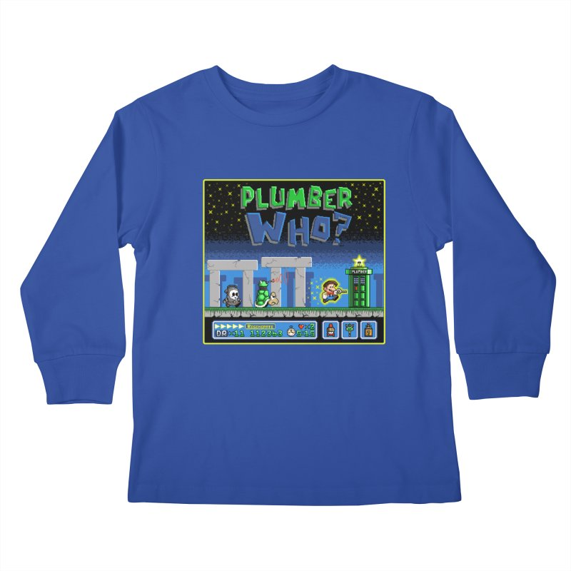 """Plumber Who?"" - Stonehenge Kids Longsleeve T-Shirt by Garbonite"