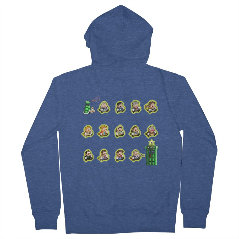 """""""Plumber Who?"""" - Extra Lives Women's French Terry Zip-Up Hoody by Garbonite"""