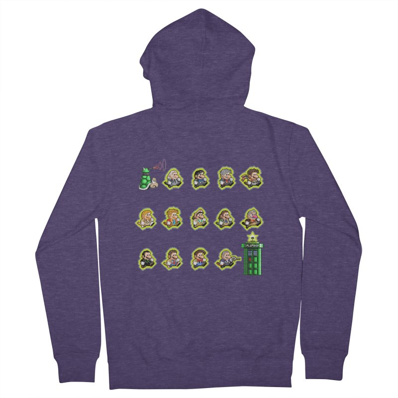 """""""Plumber Who?"""" - Extra Lives Men's French Terry Zip-Up Hoody by Garbonite"""