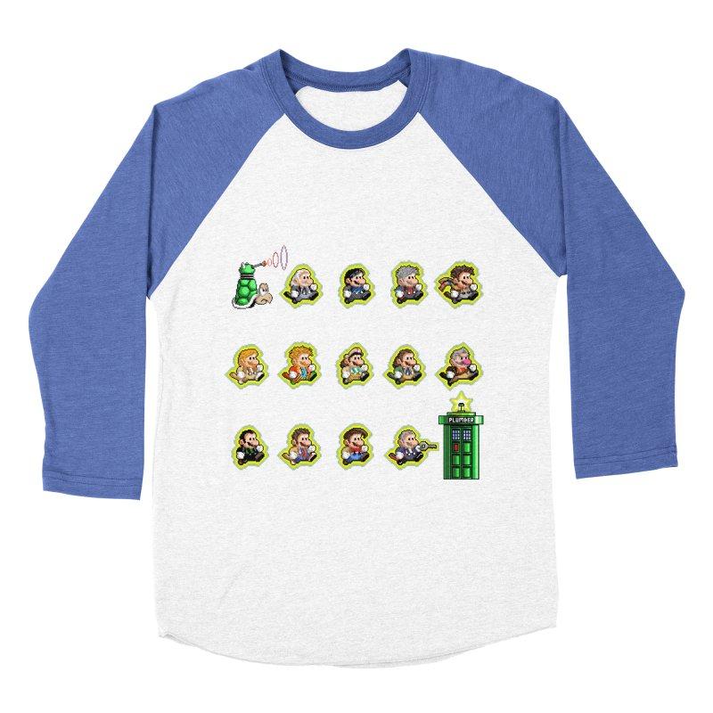"""Plumber Who?"" - Extra Lives Women's Baseball Triblend Longsleeve T-Shirt by Garbonite"