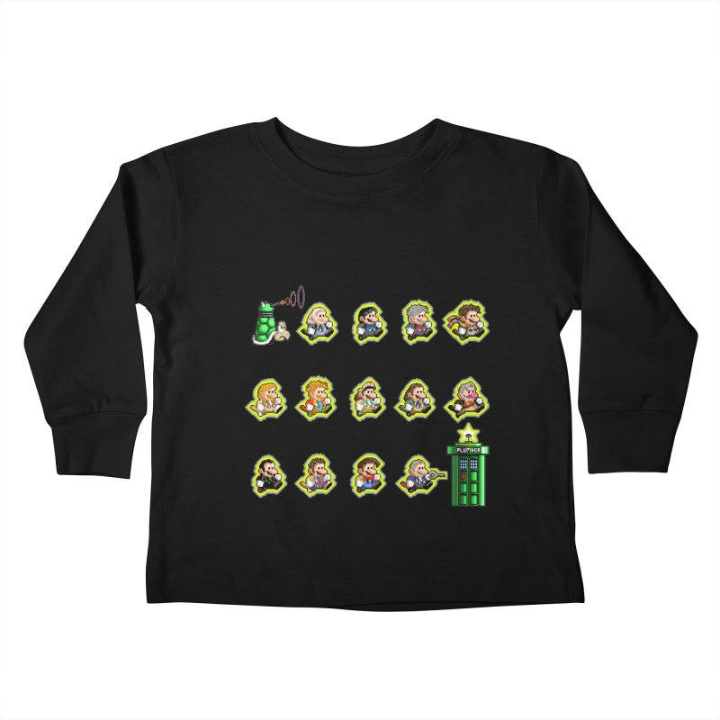 """Plumber Who?"" - Extra Lives Kids Toddler Longsleeve T-Shirt by Garbonite"