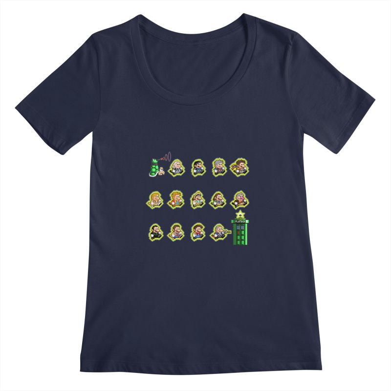 """""""Plumber Who?"""" - Extra Lives Women's Scoopneck by Garbonite"""