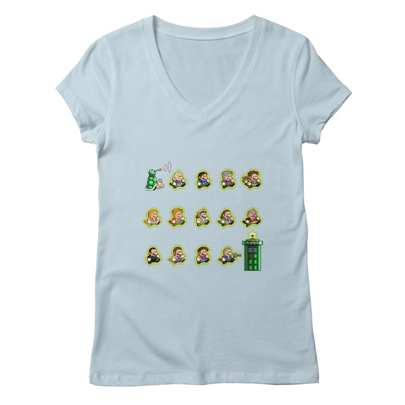 """Plumber Who?"" - Extra Lives Women's Regular V-Neck by Garbonite"