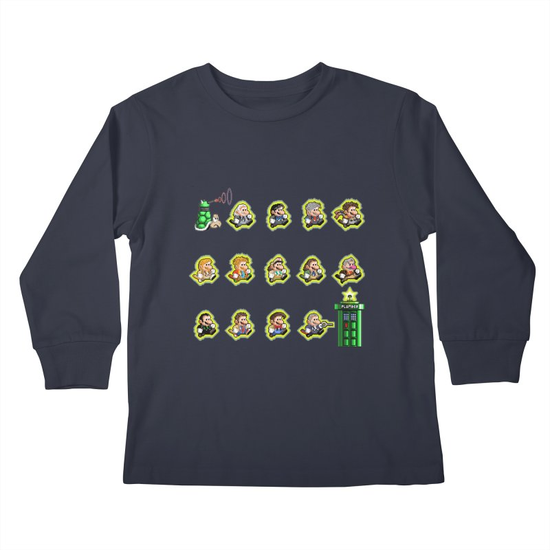 """""""Plumber Who?"""" - Extra Lives Kids Longsleeve T-Shirt by Garbonite"""