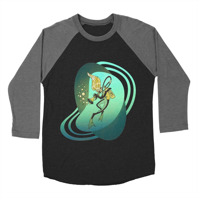 Scubadour Women's Baseball Triblend T-Shirt by Garbonite
