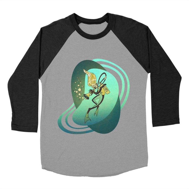 Scubadour Men's Baseball Triblend Longsleeve T-Shirt by Garbonite
