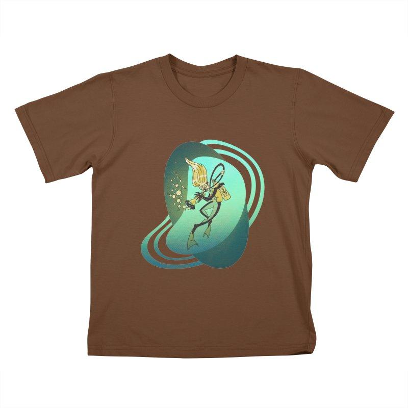 Scubadour Kids T-Shirt by Garbonite