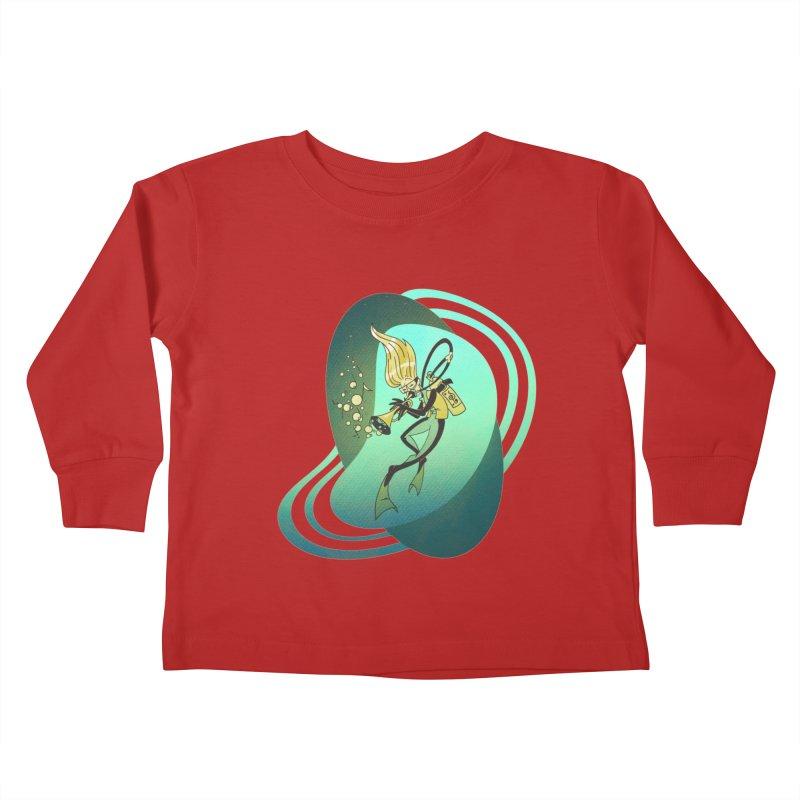 Scubadour Kids Toddler Longsleeve T-Shirt by Garbonite