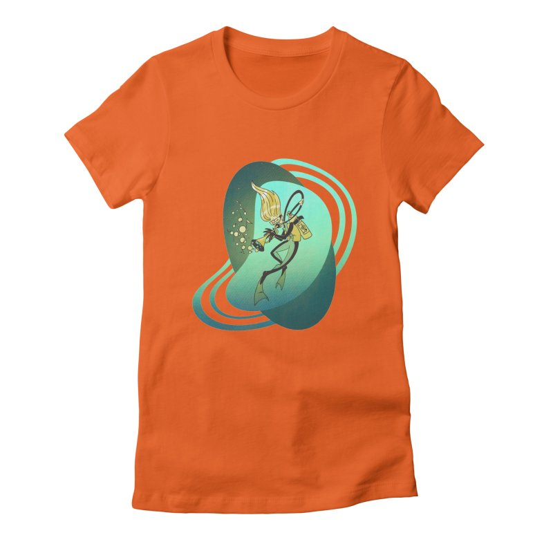 Scubadour Women's Fitted T-Shirt by Garbonite