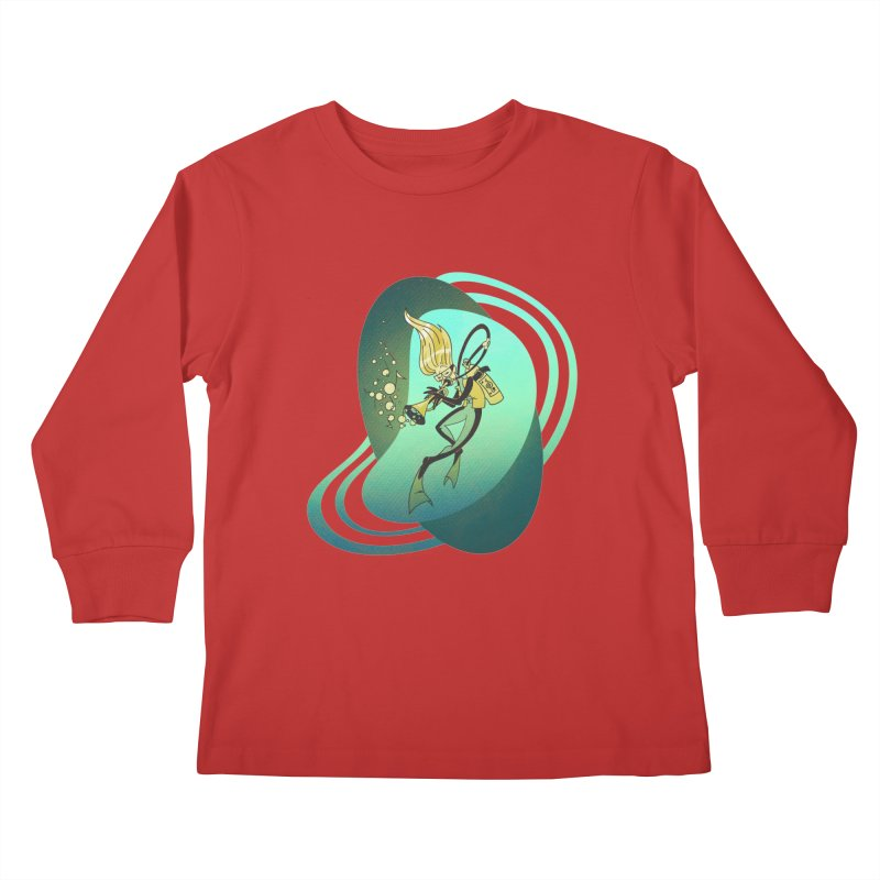 Scubadour Kids Longsleeve T-Shirt by Garbonite