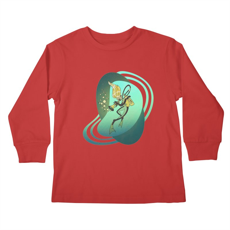Scubadour Kids Longsleeve T-Shirt by Garbonite