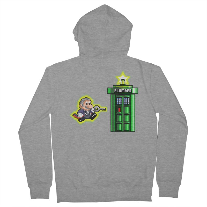"""""""Plumber Who?"""" - Level 12 Men's French Terry Zip-Up Hoody by Garbonite"""