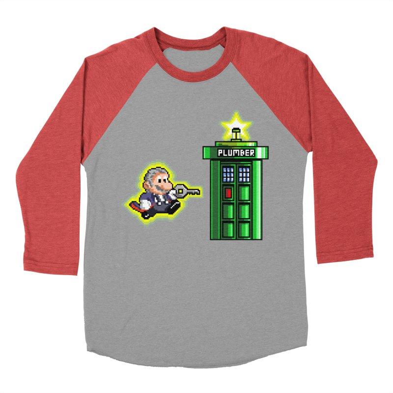 """""""Plumber Who?"""" - Level 12 Men's Baseball Triblend Longsleeve T-Shirt by Garbonite"""