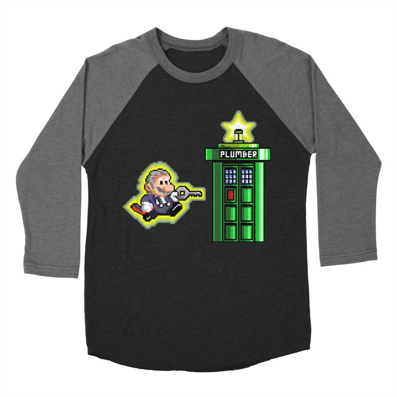 """Plumber Who?"" - Level 12 Men's Baseball Triblend T-Shirt by Garbonite"