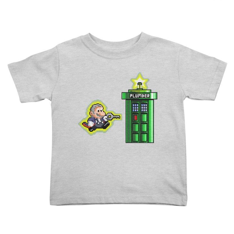 """Plumber Who?"" - Level 12 Kids Toddler T-Shirt by Garbonite"