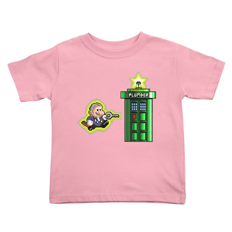 """Plumber Who?"" - Level 12 Kids Toddler T-Shirt by Garbonite"