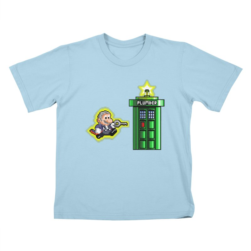 """Plumber Who?"" - Level 12 Kids T-Shirt by Garbonite"