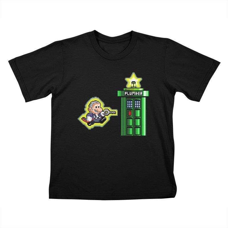 """Plumber Who?"" - Level 12 Kids T-Shirt by Garbonite"