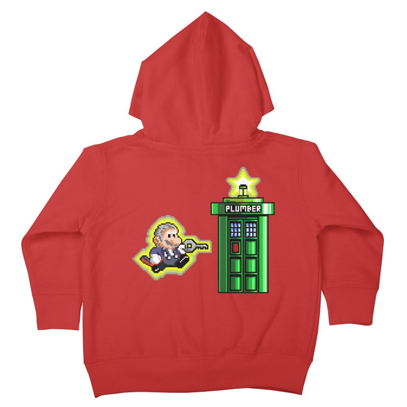 """Plumber Who?"" - Level 12 Kids Toddler Zip-Up Hoody by Garbonite"