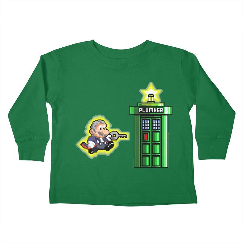 """Plumber Who?"" - Level 12 Kids Toddler Longsleeve T-Shirt by Garbonite"