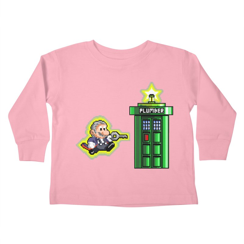 """Plumber Who?"" - Level 12 Kids Toddler Longsleeve T-Shirt by Garbonite"