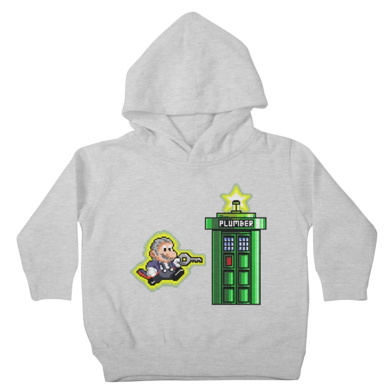 """Plumber Who?"" - Level 12 Kids Toddler Pullover Hoody by Garbonite"