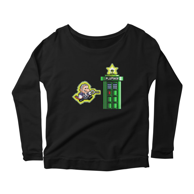 """Plumber Who?"" - Level 12 Women's Scoop Neck Longsleeve T-Shirt by Garbonite"