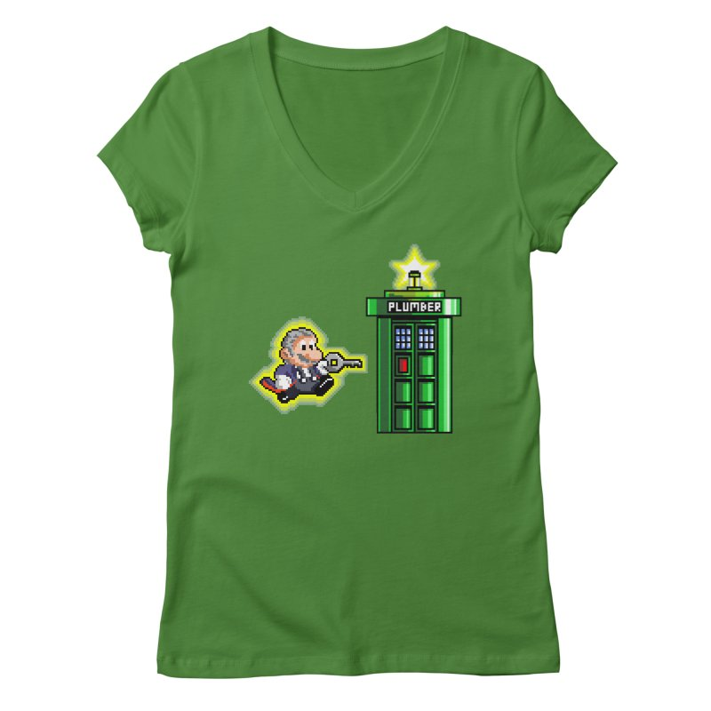 """Plumber Who?"" - Level 12 Women's Regular V-Neck by Garbonite"