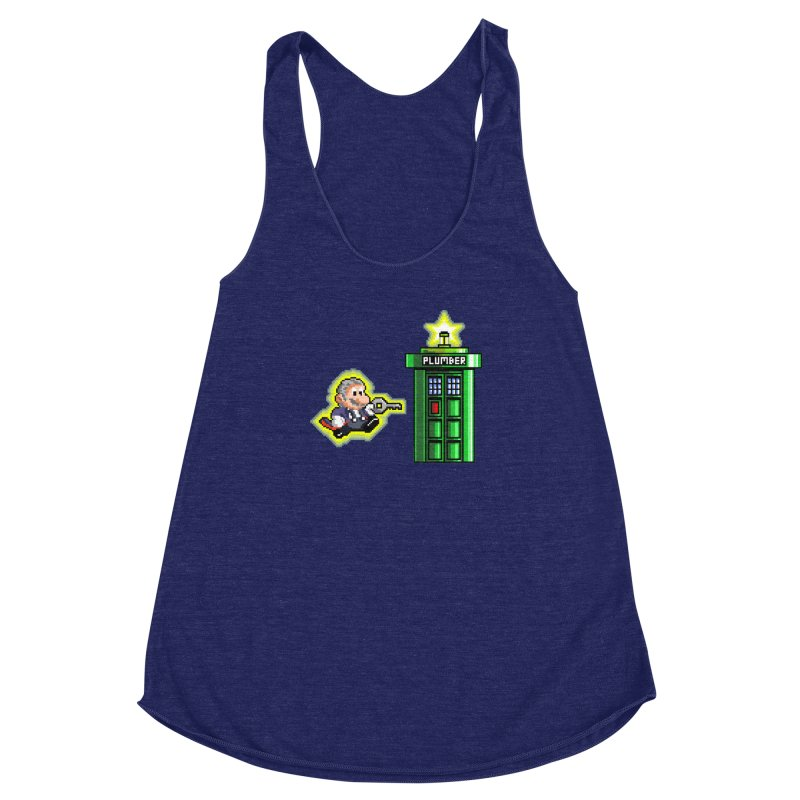 """Plumber Who?"" - Level 12 Women's Racerback Triblend Tank by Garbonite"