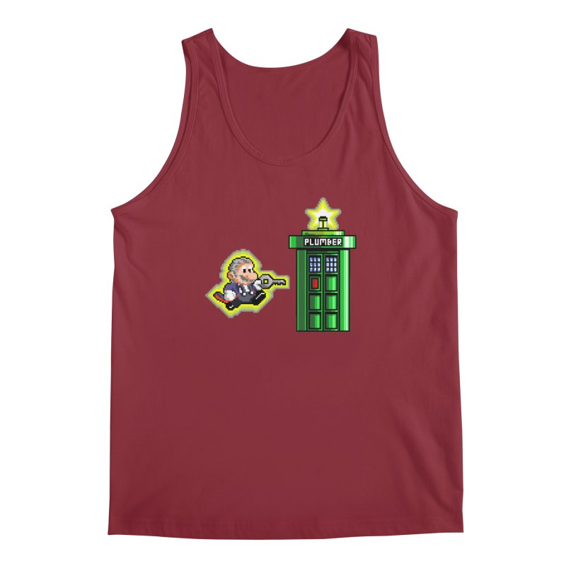 """Plumber Who?"" - Level 12 Men's Tank by Garbonite"