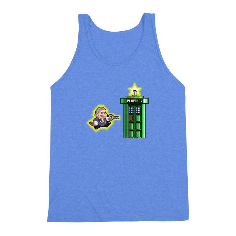 """Plumber Who?"" - Level 12 Men's Triblend Tank by Garbonite"
