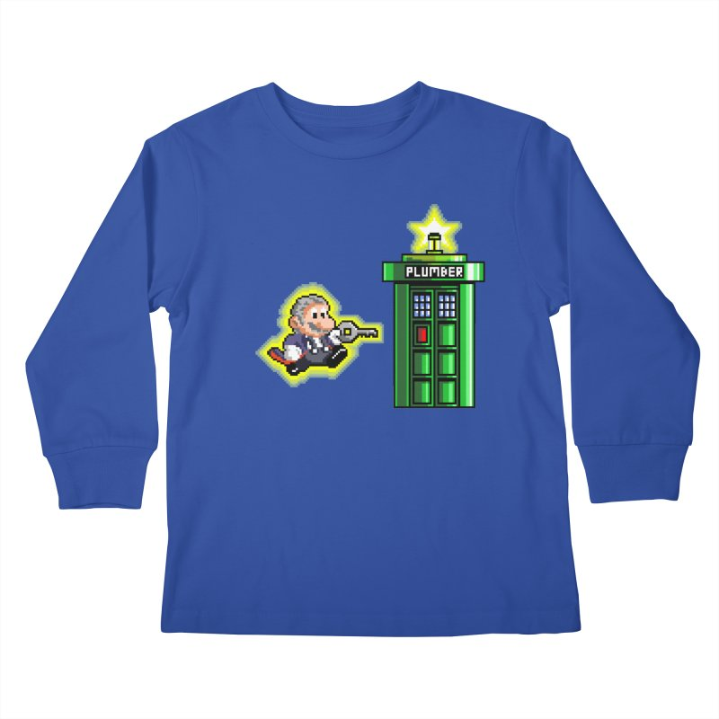 """Plumber Who?"" - Level 12 Kids Longsleeve T-Shirt by Garbonite"
